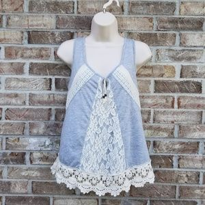 Alter'd State 》 Gray Lace Tank